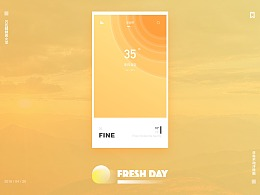 丨界面丨Fresh-Day丨清新每一天丨APP-For-Weather