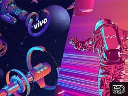 vivo 2019社会/校园招聘主视觉KV设计
