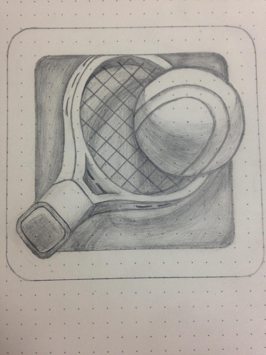 手绘图标-网球运动