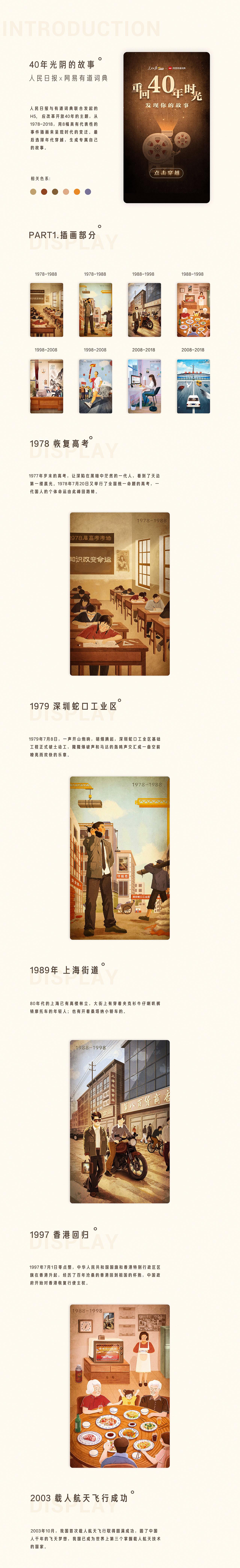 40年光阴的故事   人民日报x有道词典H5-H5素材