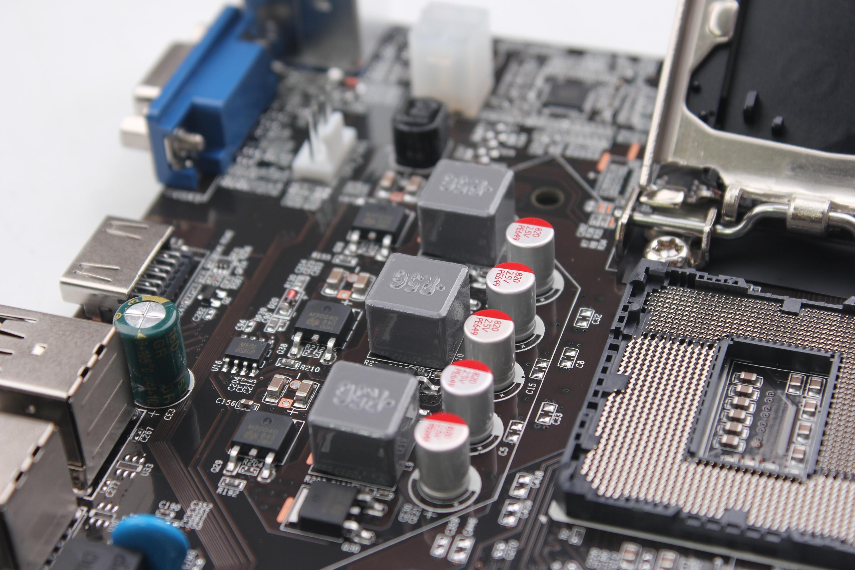 电脑主板拍摄 电脑主板接线图 细节图