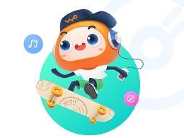中国联通沃品牌卡通形象设计-沃沃wowo