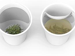 一种带有可变式茶隔的一次性纸杯