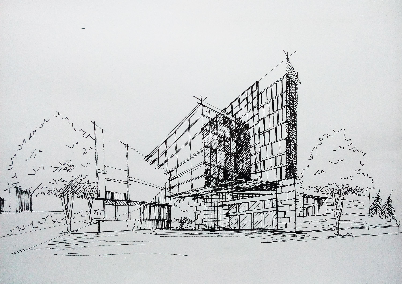 建筑类手绘图|空间|建筑设计|鹿小尤 - 原创作品图片