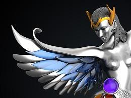 珠宝设计作品《你想要高飞,我给你翅膀》