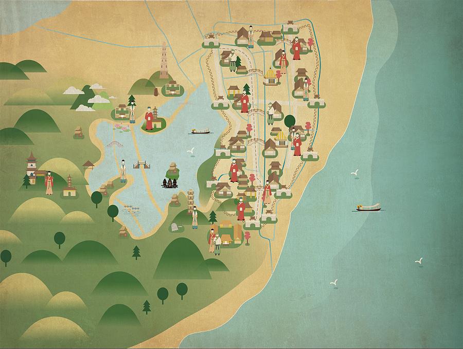 燕寻杭城|杭州古地图变迁|信息图|平面|请叫我花