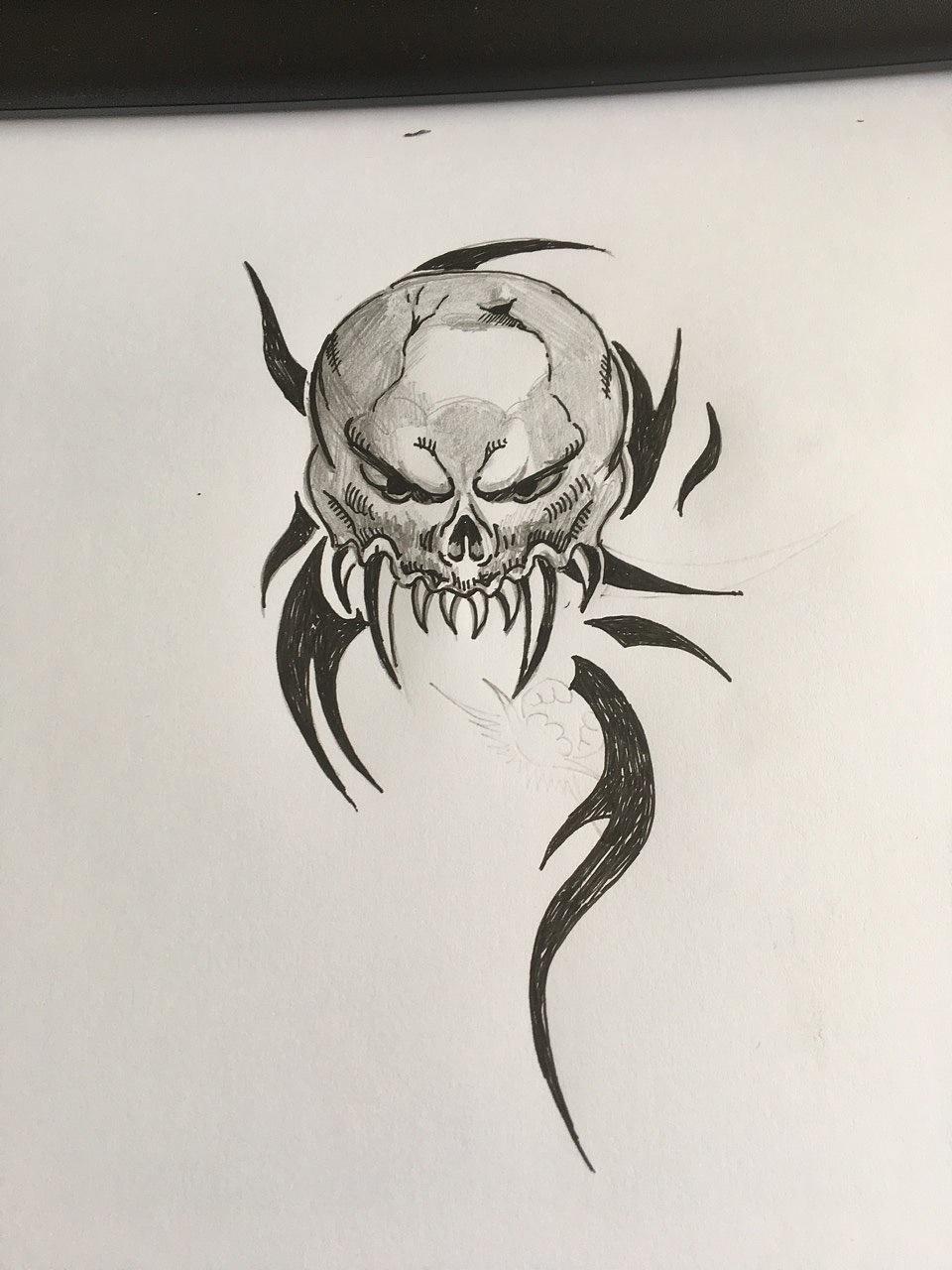 男士黑白半甲龙纹身手稿图案_半甲纹身图案大全_纹身图吧