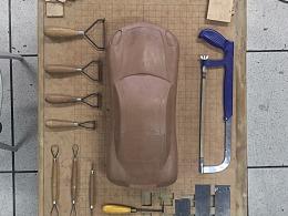 汽车油泥模型-保时捷