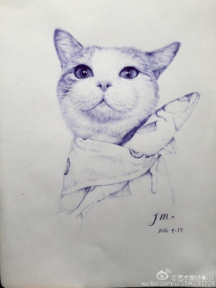 jm圆珠笔手绘系列