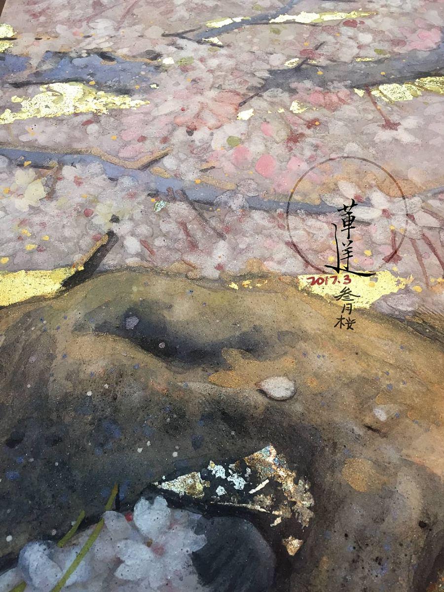查看《【岩彩】三月樱》原图,原图尺寸:1000x1333