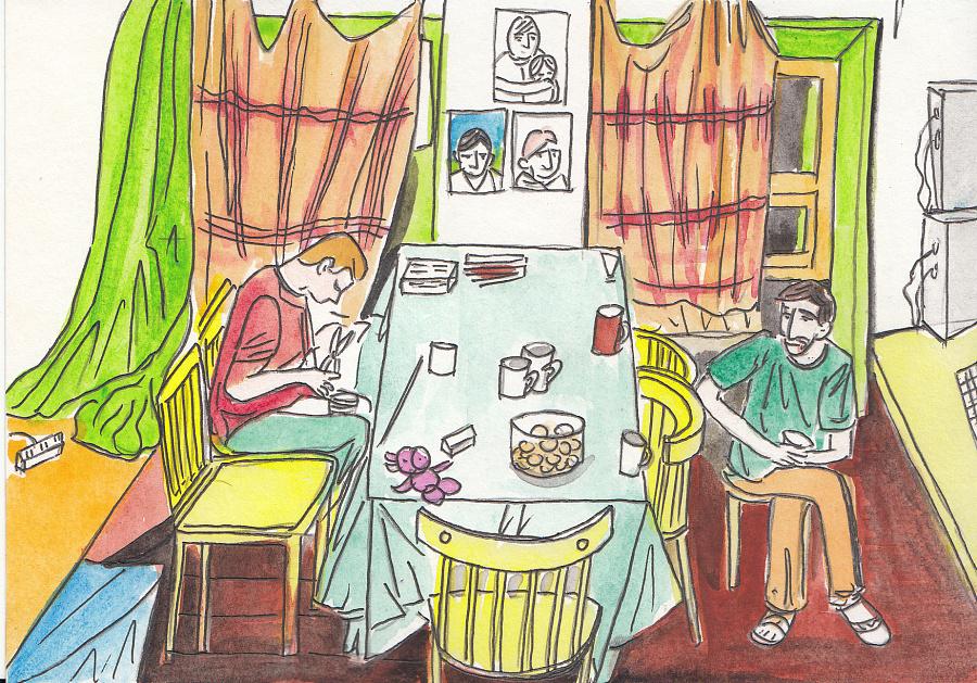 原创手绘明信片#-#俄罗斯2#|商业插画|插画|donna