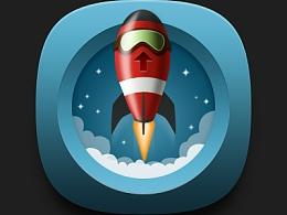 小火箭图标