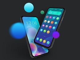 手机UI主题-纽扣糖果系