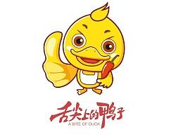 舌尖上的鸭子-logo设计