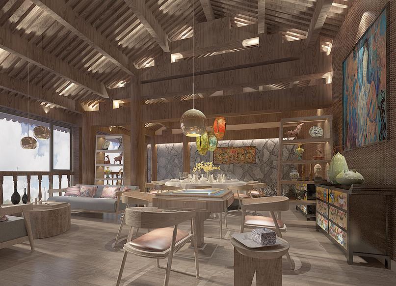 丽江玉龙花园藏式餐厅设计-贵阳主题餐厅设计 贵阳专业餐厅装修设计公图片