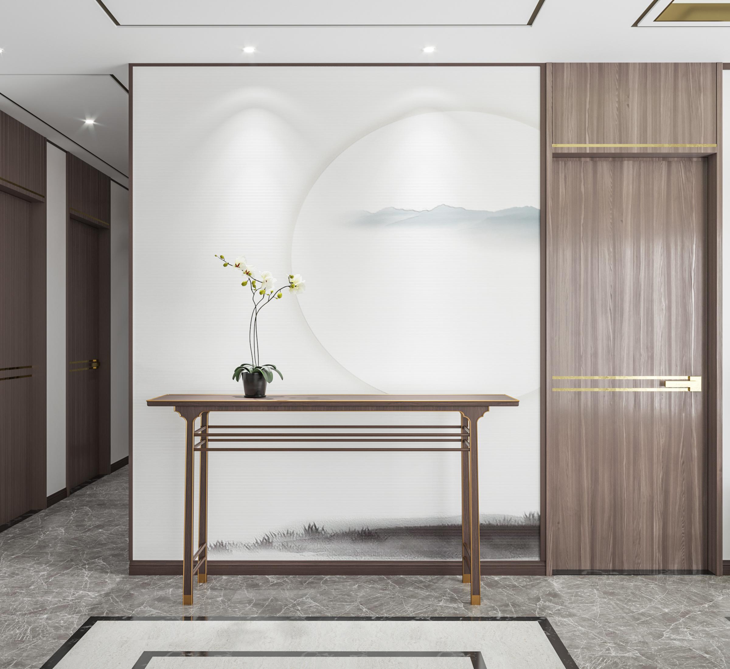 新欹???(?_一套新中式风格的渲染作品|空间|室内设计|曹欹