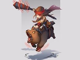 Q版练习-熊骑