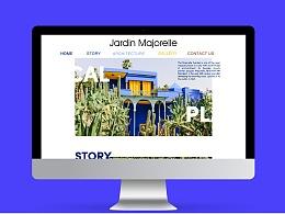 JARDIN MAJORELLE网页设计