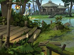 洛克猴(杜震)横版写实 《沼泽迷踪》