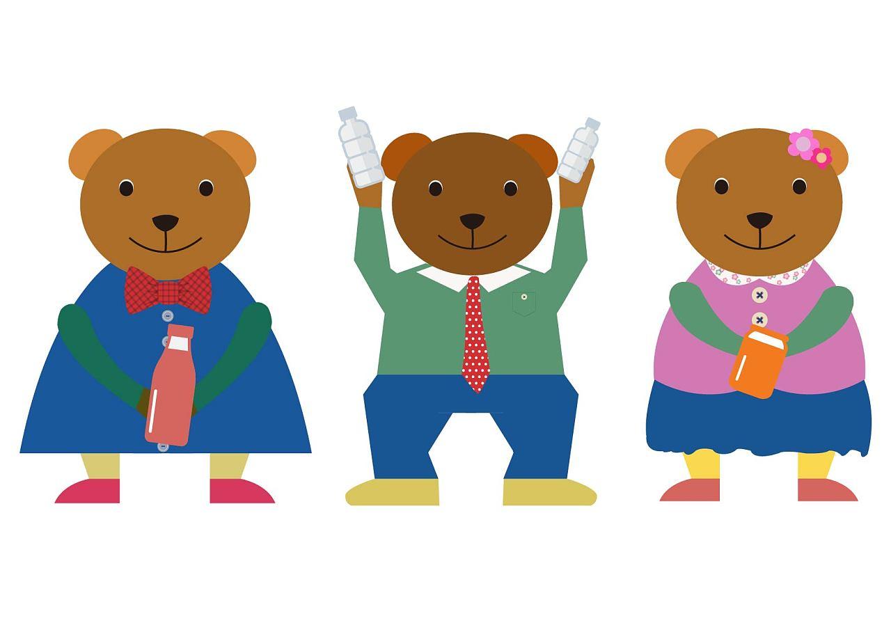 可爱卡通小熊形象
