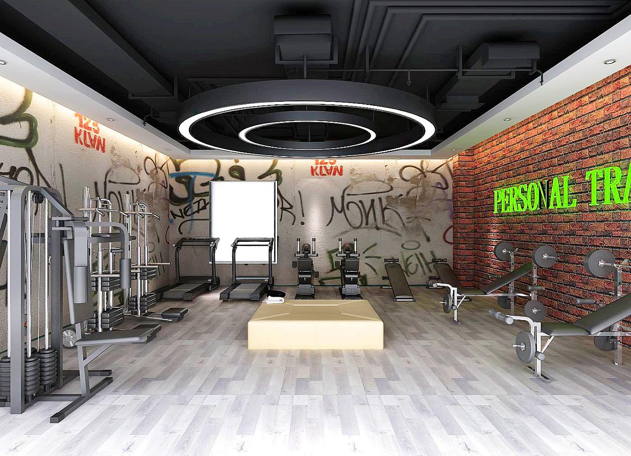 石家庄2400平健身房装修设计效果图展示