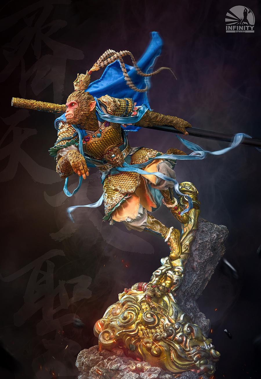 查看《【开天工作室神话系列第二款·齐天大圣雕像】》原图,原图尺寸:1533x2222