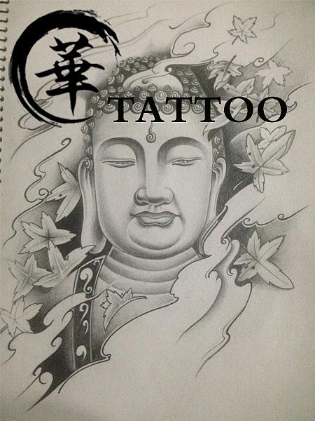 如来纹身手稿图案