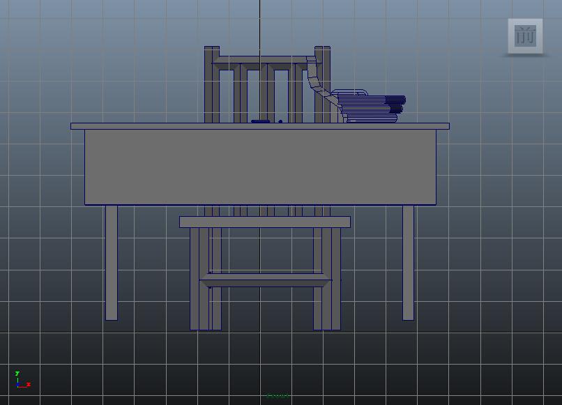 maya建模练习-电脑桌|三维|场景|devilazure - 原创