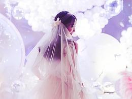 一件非常少女心的婚纱