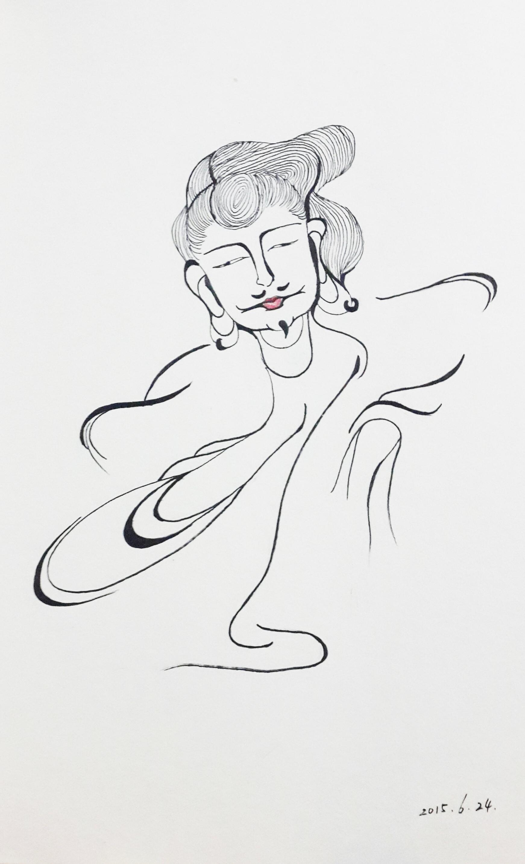 手绘黑白装饰画|平面|图案|林末白_amylin - 原创作品