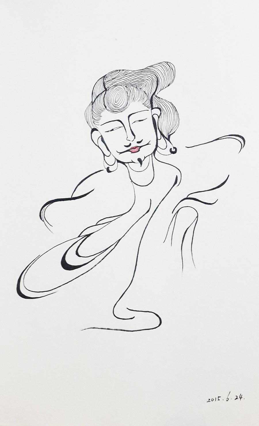 手绘黑白装饰画|图案|平面|林末白_amylin - 原创设计