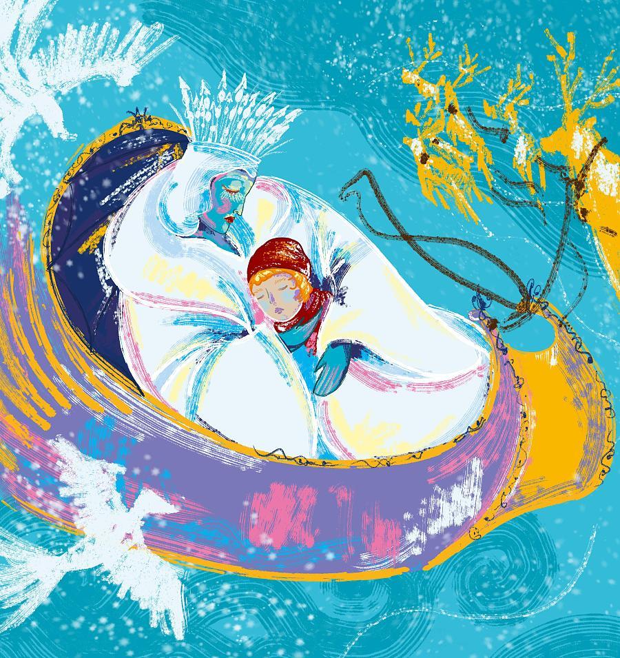 童话恶毒皇后q版手绘