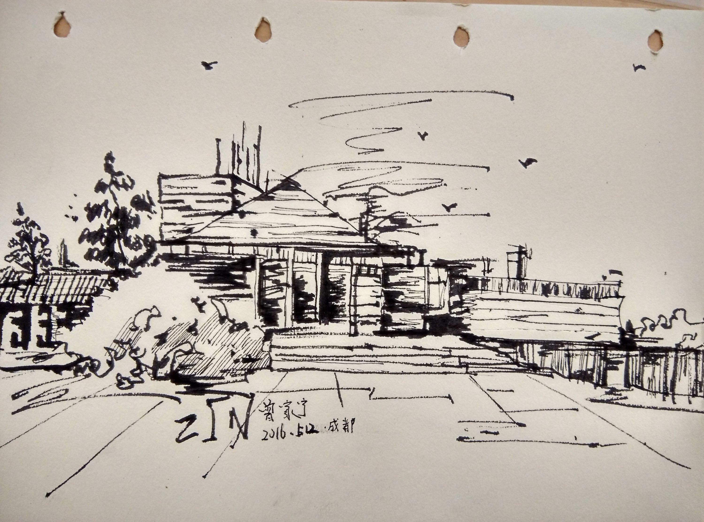 建筑线描表现图片