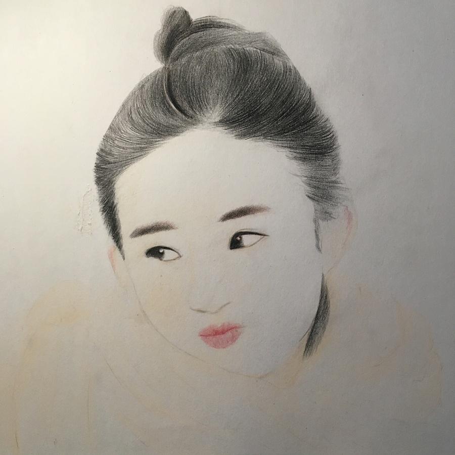 彩铅手绘赵丽颖|绘画习作|插画|喃七月