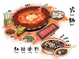 重庆美食插画