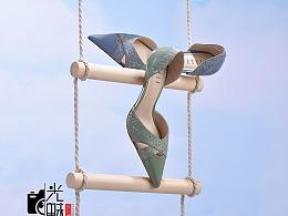 女鞋创意图拍摄