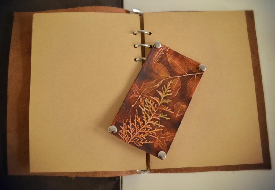 立体的水彩风格 小皮画 笔记本
