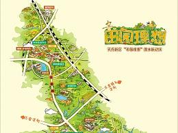 《田园理想》手绘地图