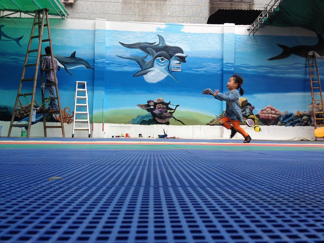 中山3d墙绘《海底世界》涂鸦