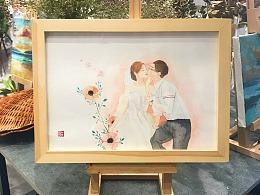[水彩]手绘婚纱照定制,甜甜的,暖暖的..
