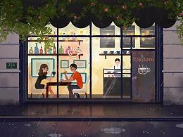 雨中咖啡馆