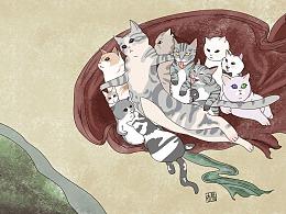 当猫咪遇上西方名画