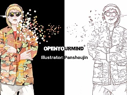 OPEN YOUR MIND服装插画
