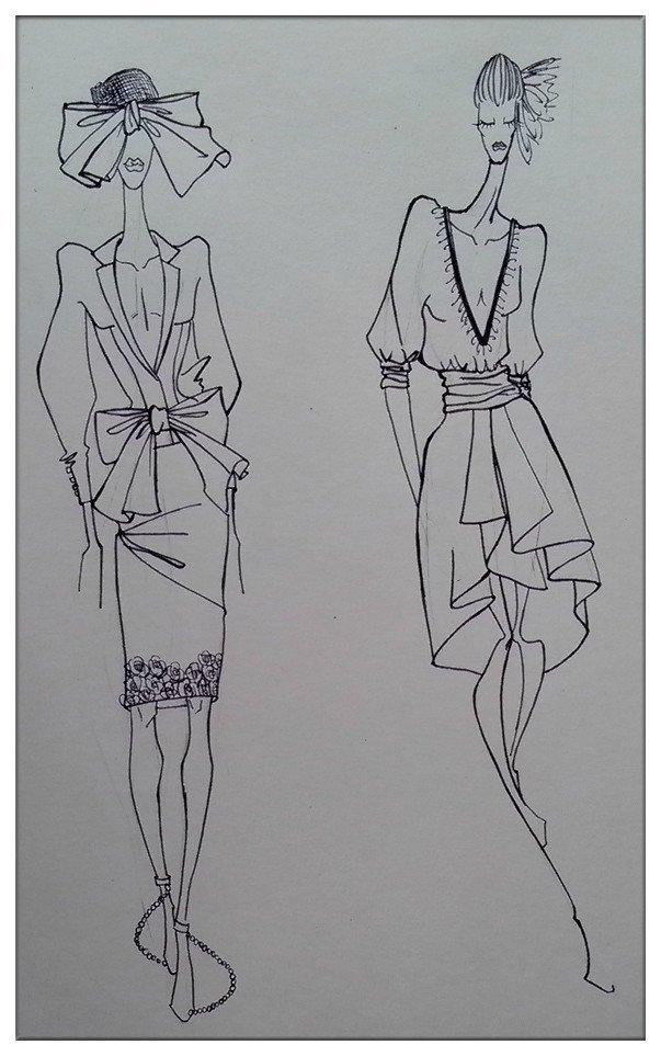 服装手绘|休闲/流行服饰|服装|在雨下的泡芙小姐