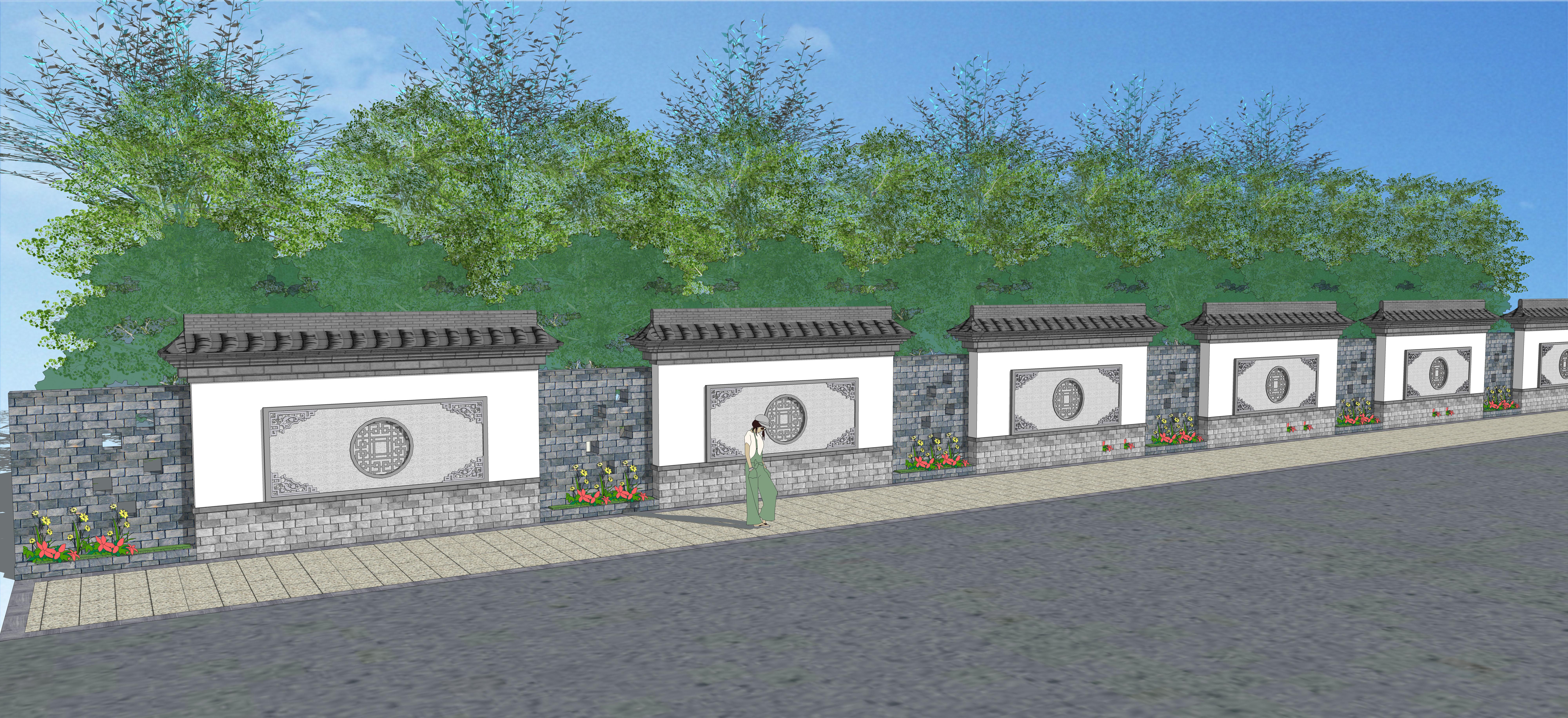 围墙构造柱结构详图