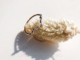 梵尼洛芙珠宝 | 复古时尚婚戒【一叶】