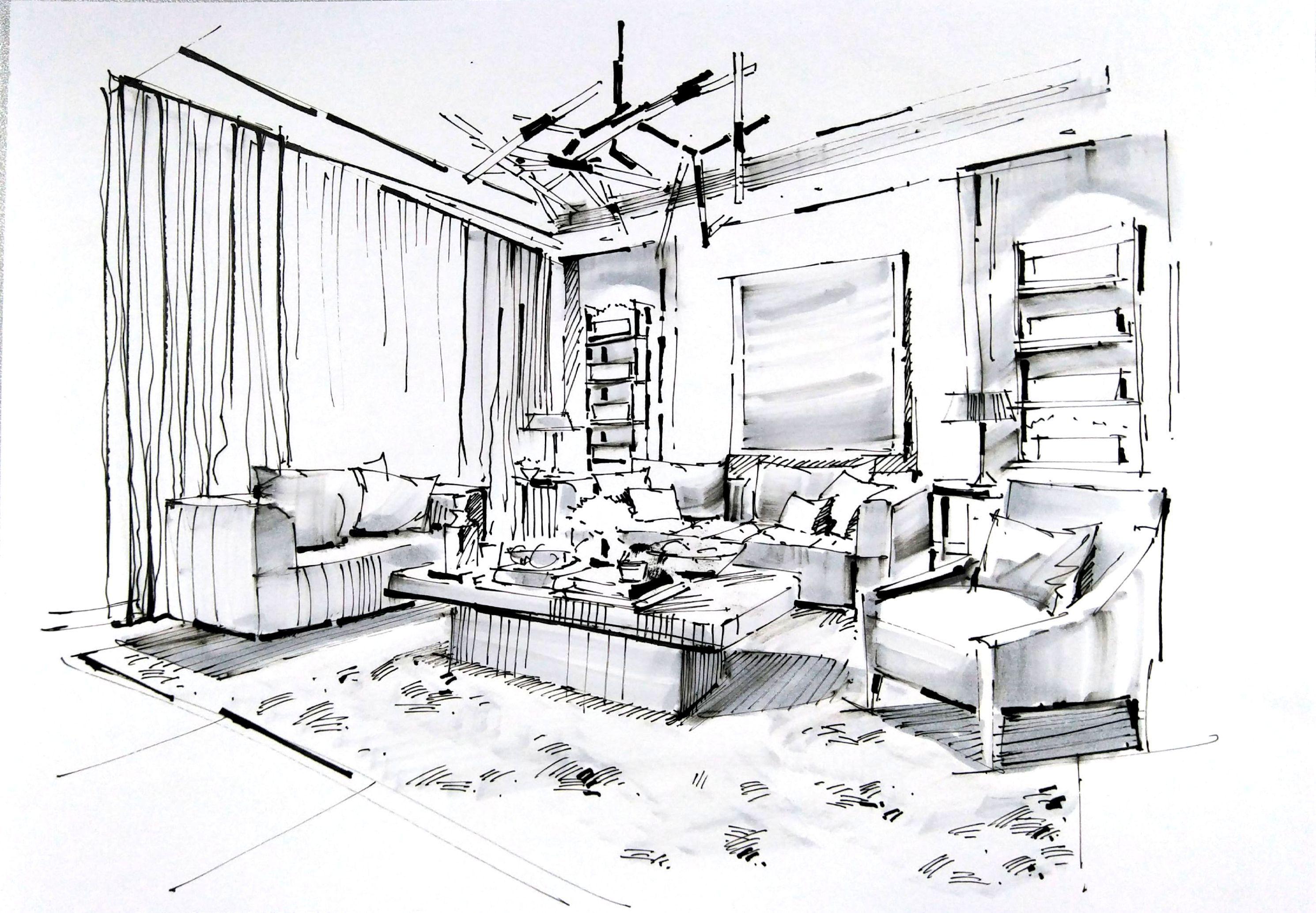 一叶手绘2017年度部分作品|空间|室内设计|一叶手绘