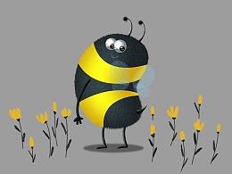 小蜜蜂绘画练习详细步骤