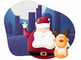 圣诞老人和他的驯鹿