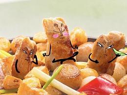定格动画-这些食物太可爱,当然选择吃掉它!